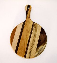 Wooden Cutting Board Walnut Cherry Maple Mixed Wood by foodiebords, $35.00
