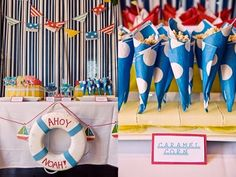 12 nautical birthday party and baby shower ideas spaceships and nautical baby shower ideas First Birthday Party Themes, Baby Boy First Birthday, Party Themes For Boys, Kids Birthday Party Invitations, Birthday Ideas, Happy Birthday, 2nd Birthday, Martinis, Donald Duck Party