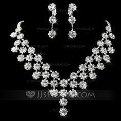 Jewelry - $26.99 - Gorgeous Alloy With Rhinestone Ladies' Jewelry Sets (011013121) http://jjshouse.com/Gorgeous-Alloy-With-Rhinestone-Ladies-Jewelry-Sets-011013121-g13121