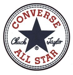 "The Converse All Star logo. ""Converse All Star"" Tumblr Stickers, Phone Stickers, Logo Stickers, Macbook Stickers, Brand Stickers, Converse Logo, Converse All Star, Converse Chuck, Converse Shoes"
