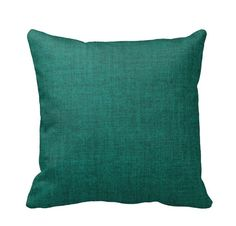 Emerald Teal Cotton Throw Pillow Cover by by PrimalVogueHomeDecor