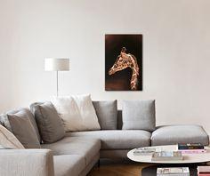 Idées Décoration, peinture animaux d'afrique, girafe