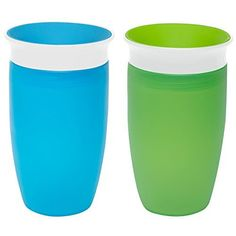 I absolutely adore these cups! They also come in girly colors so mama's of lil ladies don't fret! I haven't had a leaking issue with these at all, however when it's dropped or thrown (let's face it toddlers throw tantrums) it does let out a little spla...