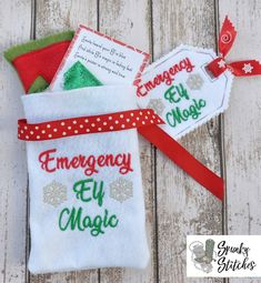 Recently Added - Spunky Stitches Elf Magic, Magic Bag, Embroidery Files, Machine Embroidery, Elf Clothes, Christmas Stockings, Christmas Ornaments, All Sale, Elves