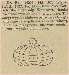 Podróbka: Znak towarowy Domu Handlowego Gerlach Ska z ogr. odp. Ska, Historia