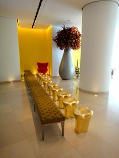 The Tooth Stools designed by Philippe Starck at the St Martins Lane Hotel, London by Philippe Starck