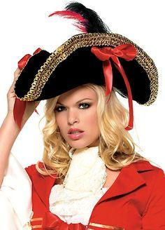 Gold Trim Pirate Hat