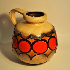 Vintage West German Scheurich Vase. 1970's, Fat Lava $95