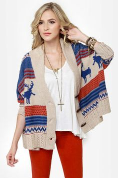 Cute Moose Cardi....what says winter better than a moose???? #lulusholiday