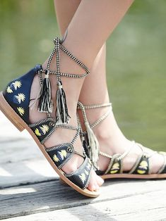 House of Harlow 1960 Always Forever Lace Up Sandal at Free People Clothing Boutique