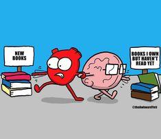 The Awkward Yeti I Love Books, New Books, Books To Read, Jane Austen, Heart And Brain Comic, The Awkward Yeti, Akward Yeti, Fandoms, Comic Movies