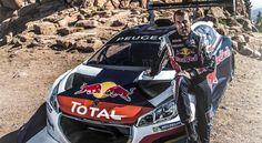 Sébastien Loeb et sa 208 T16 à Pikes Peak