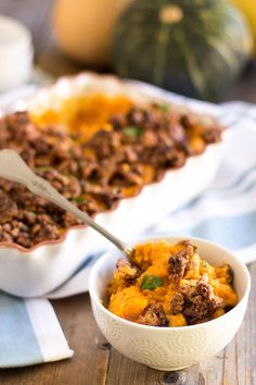 Whipped Sweet Potato Casserole with a delicious topping of Candied Maple Walnuts. So dreamy, just one bite will have you wanting to give thanks all around!