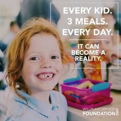 When you Join The Fight to End Childhood Hunger, you help provide Meal Programs that ensure that every kid has 3 meals every day.  #JoinTheFight today at willplayforfoodfoundation.org & check out all the ways you can End Childhood Hunger in your community! #willplayforfood