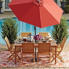 Beautifully crafted, the sturdy Westerly Acacia Wood Outdoor Patio Collection will enhance your outdoor space and make entertaining easy.