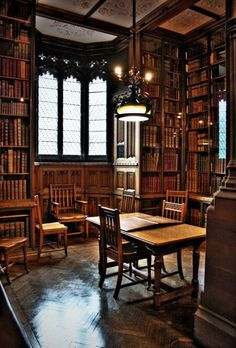 The Reading Room, John Rylands Library, Manchester. I so want a library in my house! Library Room, Dream Library, Library Ideas, Cozy Library, Library Ladder, Library Table, Library Design, Loft Design, Ancient Architecture