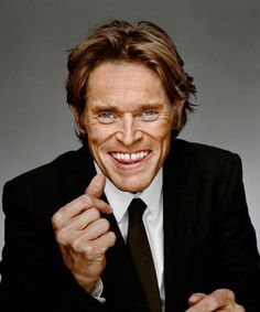 """Willem Dafoe by Martin Schoeller... in his creepy """"come hither"""" pose"""
