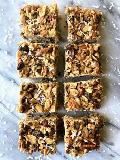 These No Bake Nutty Granola Bars are the perfect treat for when that afternoon slump hits! Who else is on...