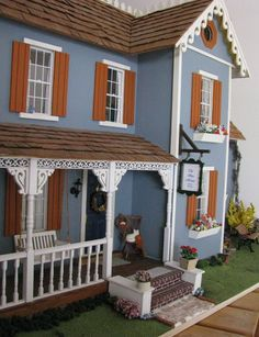 Lilliput Cherrydale Dollhouse Kit customized by the builder.  Looks great! Dollhouse Kit Made in USA by Real Good Toys