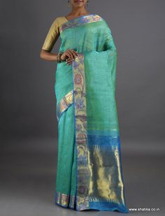 Juhi Bel of Colorful Flowers #LinenSilkSaree