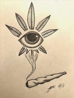 Trippy Drawings, Dark Art Drawings, Pencil Art Drawings, Art Drawings Sketches, Tattoo Drawings, Tattoo Sketches, Easy Drawings, Art Tattoos, Hippie Drawing