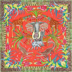 Introducing the Hermes Spring/Summer 2016 Scarves. Hermes features reprints in their latest collection including Les Ailes Pleines de Joie, Manufacture de Turbans, Animal Print Scarf, Silk Scarves, Hermes Scarves, Designer Scarves, Scarf Design, Vintage Scarf, Textiles, Spring Summer 2016