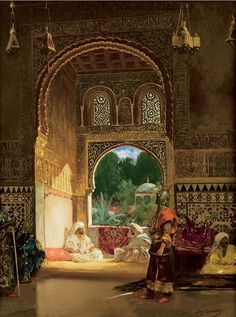 Cat. 134. TM / Jean-Joseph Benjamin-Constant, In the Sultan's Palace, N.d., Oil on canvas, 66x50.2 cm, Signed l.r.: Benj. Constant, Salt Lake City, Utah Museum of Fine, Arts, University of Utah, Gift of Mary P. Sandberg in honour of Mr. and Mrs. Henry H. Robinson / Inv. UMFA 1973.081.001