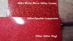 Mirror Glitter Canvas Vinyl Sheets