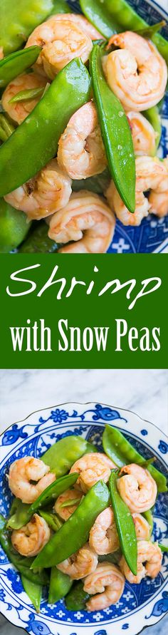 A classic Chinese stir fry of shrimp and snow peas with a mild ginger-garlic sauce. Cooks up in only 20 minutes! One pot. On SimplyRecipes.com