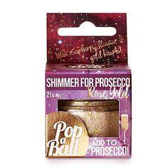 Rose Gold Shimmer Popaball For Prosecco - from Lakeland