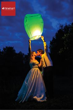 Lantern Release-- how romantic!!!! This is obviously a wedding but you could totally do this for an engagement too :)