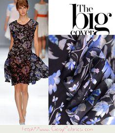 Dress Making Material Red Blue Purple Black Flower Polka Dot Viscose Georgette