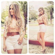 Short cós alto lindo no Bazar Chic. Cos Alto, Online Boutiques, White Shorts, Short Dresses, Mini Skirts, Women, Fashion, Outfits, Short Gowns