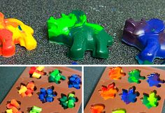 Dinosaur crayons, great party favors I think!