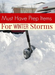 Snow and ice are about to hit this country in a historical way! Be sure you're ready with these must have prep items for winter storms! You'll be glad you did!
