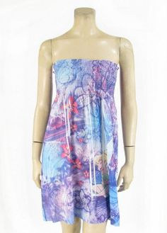 Amazon.com: Disney Sun Dress Tinkerbell Print Beach Coverup Juniors Tinker Bell: Clothing