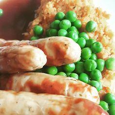 Chicken sausages and sweet potato mash #beasbites #blogger #girlwhocooks #foodie #foodblogger  www.beasbitesonline.com