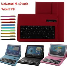 Universal Removable Bluetooth Keyboard PU Case Cover for tablet pc like pipo m6 pro/cube u9gt5/chuwi v99 ONDA V975 V971 FREE PEN #Affiliate