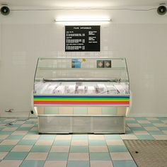 In what looks like a former butchers, or rickety old deli, the instant film stocked cold-food chiller is picture perfect in itself, whilst the old-skool peg letter board keeps things strictly analogue...