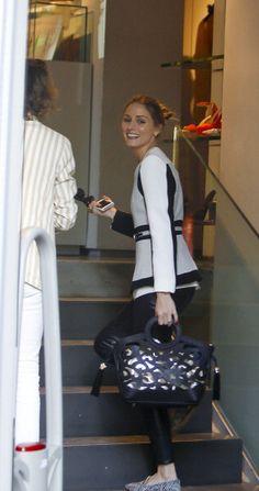 Olivia Palermo look that bag!!! Bolso alucinante