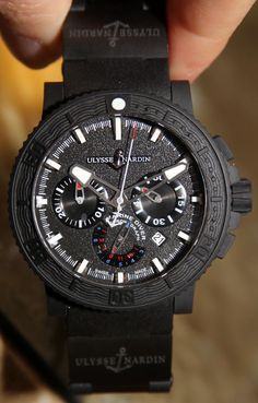 Ulysse Nardin Black Sea Chronograph Watch ulysse nardin