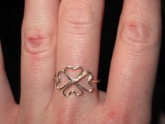 Wire Wrapped Four Heart Clover MADE to ORDER Ring by 1ofAkinds
