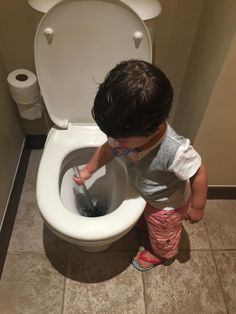 When your 1.5 yo son decides toilets shall be cleaned up... :p #childlabour #beachcomber #lecanonnier