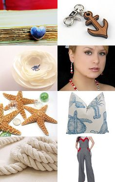 Here is a treasury made by AnnyMay!  *******  Voici une vitrine offerte par AnnyMay!    http://www.etsy.com/treasury/NjM1MjM3MnwyNzI0MDE3Njk0/nautical-contrast