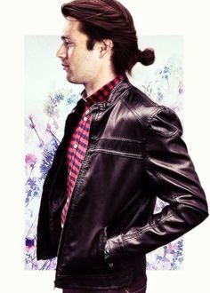 The Winter Soldier in leather jacket