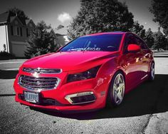 Lowered Red Chevy Cruze