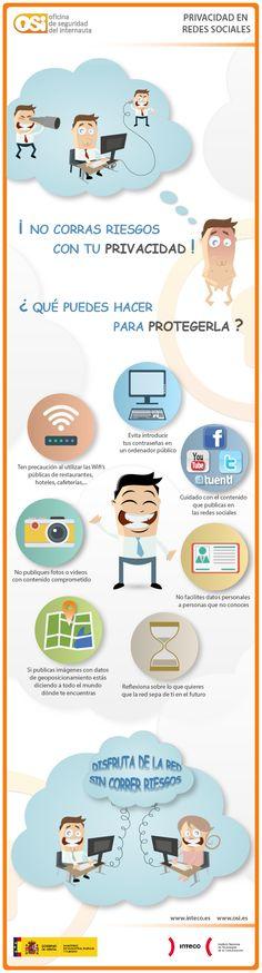Privacidad en las Redes Sociales Vía: @osiseguridad @INTECO #infografia #infographic #socialmedia