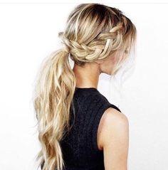 pretty + messy braided ponytail