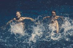 The Brooklyn Peaches   Synchronized Swimmers   Photographed in Southampton by Nils Ericson   #synchronizedswimming #synchronizedswimmers #swimmers #swim