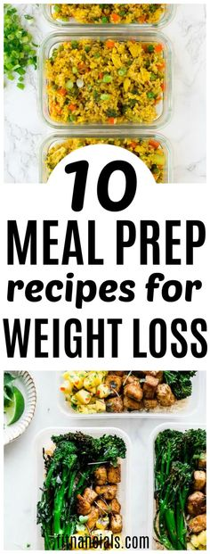 10 Meal Prep Recipes For Weight Loss. 10 Meal Prep Recipes For Weight Loss mealpreprecipes Here's a great list of 10 meal prep recipes for weight loss that are both healthy and delicious. Weight Loss Meals, Healthy Weight Loss, Losing Weight, Weight Gain, Reduce Weight, Snacks For Weight Loss, Vegetarian Weight Loss Plan, Weight Loss Diets, Quick Weight Loss
